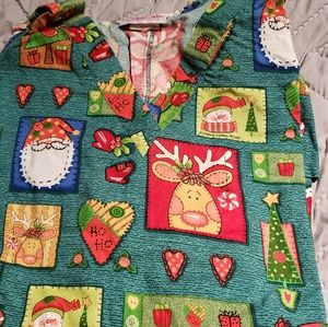 Cherokee Christmas scrub top